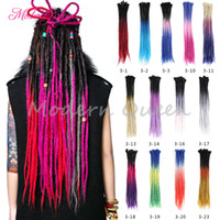 Pas cher Jamaïque À La Main Crochet Dreadlock Synthétique Tressage Cheveux Kanekalon Cheveux Extenstion 3 tons Ombre Couleur Freetress Crochet Serrures Tresses
