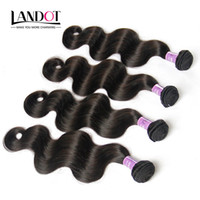 Non Transformé 8A péruvienne cheveux de vague de corps 100% Human Hair Weave Bundles 4Pcs lot Natural Color Dyeable SOFT THICK Tangle Hair Extensions GRATUIT