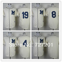 Wholesale Embroidery Clock - 2016 Wholesale Cheap Milwaukee Brewers Authentic Blank 1913 Turn Back The Clock Baseball Jersey,Embroidery Logos,Size M-XXXL