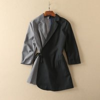 Wholesale Long Sleeved Blazer - new arrivals 2018 autumn women's brand designer jackets fashion blazers luxury Women's Outerwear & Coats good quality grey and black