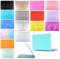 """Wholesale Laptops Color Covers - Ultrathin Smart Shell Satin Matte Hard Rubberized Case Cover For Macbook Air 11"""" 13"""" Macbook Pro   Retina Display 13"""" 15"""" case mix color"""