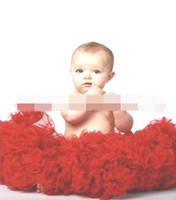 Wholesale Girls Pleated Dance Skirt - Girl TUTU Skirts Gauze Red pettiskirt Dance Dress 2-10Y 13051