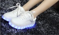 spring step sandals - Han edition colour glow shoes USB charging ghost dance step LED luminous sandals breathable sneakers shoes men and women