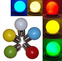 Wholesale 1w Cree Red Led - Christmas Bulbs Decorative Light Bulb LED Colorful Bulb 0.5W 2W LED Ball Bulb light E27 B22 LED Globe Bulb LED Light Bubble Bulb Lighting