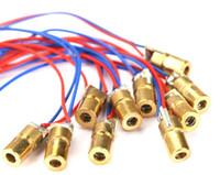 Wholesale 5v 3v - Laser Dot Module Laser Diode Modules Red Copper Head 650nm 6mm 6.5mm 3V 5V 12V 5mW 1000PCS LOT