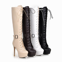 Wholesale Discount Pink Heels - Free Shipping hot sell fashion Desiger discount high heel sexy pumps woman fashion over knee long platform winter cheap factory girls boots
