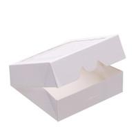 Wholesale Window Cookie Boxes - 10*10*3 cm Min New Kraft Cookies Boxes with Window Cake Pie Boxes Favor Boxes For Party Guest 24pcs