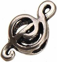 Wholesale 9mm Teardrop Beads - diy big hole music beads pandora bracelets charms european beads antique silver hollow metal new fashion jewelry findings 18*9mm 200pcs
