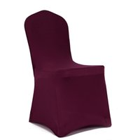 Wholesale Lycra Cover Seat - Meijuner Universal Shiny Lycra Stretch Chair Cover Spandex Slipcovers Dining Chair Seat Cover For Wedding Christmas Party Home decoration