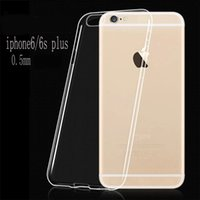 Wholesale S3 Clear Silicon - Transparent TPU gel Crystal Clear 0.5mm Ultra thin soft Silicon Case for iPhone 4S 5S 6 6S Plus Galaxy S3 S4 S5 S6 S7 Edge