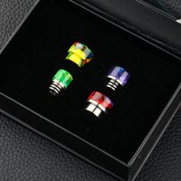 Wholesale Bearing Kit Set - Colorful Resin Drip Tips Kit Glass 510 Drip Tips and 810 Drip Tips Mouthpiece Wide Bore 4pcs Set DHL