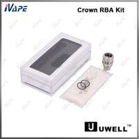 uwell corona atomizador bobinas al por mayor-Uwell Crown Tank RBA Kit 100% original Uwell Crown Rebuildable Atomizer Coil RBA Bobina Cabeza para Uwell Crown Atomizer