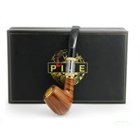 Wholesale High Quality Epipe - High Quality E Pipes Luxury Epipe 618 E Pipe kit with 2.5ml Atomizer Fit For 18350 Battery Wood Gift Box DHL free