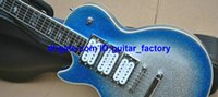 Wholesale Ace Frehley Left Handed - Custom Shop Ace Frehley Signature Left Handed Guitar Silver blue Electric Guitar