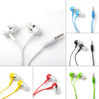 Wholesale Earphones Plastic Cover - In-ear Crystal Cable Style Color Earphone Headphone with Mcrophone Support Phone Talk Plastic + Silicone Ear Cover