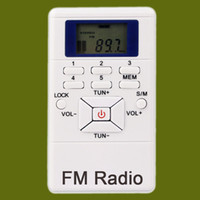 Wholesale Earphone Pocket - Pocket DSP Stereo FM Radio Receiver For Campus Broadcast + Large Meeting With Earphone Y4305B
