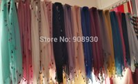 Wholesale Colorful Scarves Muffler - Wholesale-Fashion plain hijabs colorful fringes tassels four sides ladies soft solid scarf shawl hot sale muffler