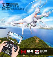 Wholesale axis cards - Original Elephone ELE Explorer 4K Ultra HD WiFi Action Camera SYMA X5SW FPV WIFI RC Drone Quadcoper With Camera 2.4G 6-Axis Real Time RC