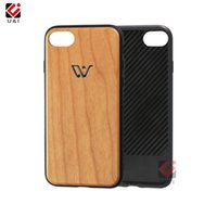 For Win Bronzing Wood Case para iPhone 8 8+ 7 7+ X 10 8plus 7plus Clear Wooden Full TPU Coverage Shockproof Plain Cover