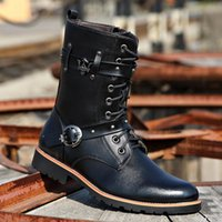 Wholesale Genuine Leather Cowboy Boots - 2016 new Mr Mir Fashion Genuine Leather Men Boots, New Style Men Ankle Boots, Casual Leather Western Cowboy Boots