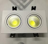 çift ızgara toptan satış-Çift COB satan üreticiler Led aşağı lamba 2 * 10 w Dim LED tavan ızgarası lamba çift COB lamba AC85-260V