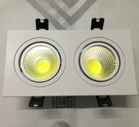 Wholesale Grille Manufacturers - Manufacturers selling double COB Led down lamp 2 *10 w Dimmable LED ceiling grille lamp double COB lamp AC85-260V