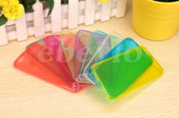 Wholesale Iphone 5c Clear Tpu Gel - Colorful Super Thin Slim Clear Flexible TPU Gel Skin Transparent back Soft Case Cover Iphone6 4 4S 5 5S 5C iPhone6 6 Plus