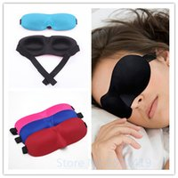 Wholesale At Random Hot Sale Sleeping Eye Mask D Portable Soft Travel Sleep Rest Aid Eye Mask Cover Eye Patch Sleeping Mask Case