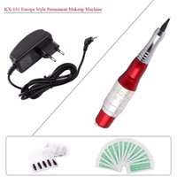 Wholesale Makeup Machine Silver - KX-101 Professional Eyebrows Tattoo Pen Permanent Eyebrow Makeup Cosmetic Tattoo Machine Red and Silver Free Shipping