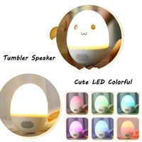 Nuevo Regalo de Navidad TumblerBluetooth Speaker LED Wireless Smart Speaker Roly-poly Speake Reproductor de Música Estéreo Funny Tumbler Toy para Niños