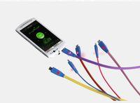 usb düz şarj cihazı adaptörü toptan satış-1 m 3ft Görünür Led Işık Gülümseme Yüz Düz Şehriye Mikro USB Data Sync Şarj Kablosu Adaptörü Samsung Galaxy s4 s3 LG HTC Nokia Için US012