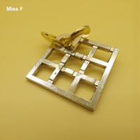 Magic Metal Alloy Field Lock Puzzle Ring Brain Teaser Gadget IQ Puzzles Toys