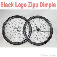 Wholesale Carbon Zipp - hot ZIPP 404 50mm dimple black hub clincher Tubular carbon bicycle wheels frame 700c road wheelset A01