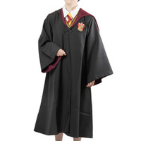 Unisex black magic clothing - 2017 New fashion Hight quality Magic robe cloak Harry Potter Gryffindor school uniforms Cosplay costume magic clothes