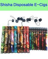 tek kullanımlık elektronik sigara shisha toptan satış-Shisha kalem Eshisha Tek Kullanımlık Elektronik sigaralar E cigs 500 ponponları 27 tipi Çeşitli Meyve Tatlar Nargile kalem