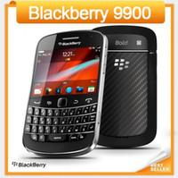 böğürtlen kilidini açma toptan satış-Orijinal 9900 Blackberry Blod Touch 9900 Unlocked 3G Smartphone WiFi GPS 5.0MP Kamera Yenilenmiş cep telefonu