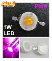 Wholesale-50pcs / lot, 1W rosada llevaron perlas, perlas de luz de color rosa LED de alta potencia, de color rosa, granos de la lámpara diodos LED, (n: GH-1W-P) freeshipping