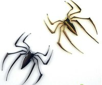 Wholesale 3pcs Spider Metal Decals Free Shipment Car D Badge Emblem Sticker Chrome Gold Silver color Truck Motor Auto Decal Sticker