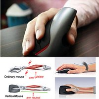 Wholesale Mouse Pc - New Wired Ergonomic Design USB Vertical 1600DPI Optical Mouse Wrist Healing For Computer PC Laptop Wholesale