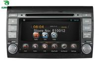 Wholesale Dvd Gps Fiat Bravo - Quad Core 1024*600 HD Screen Android 5.1 Car DVD GPS Navigation Player Car Stereo for FIAT BRAVO 2007-2012 Radio Bluetooth 3G