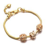 Wholesale Diy Jewellery Set - Women Owl Bracelets Bangles Gold Charm Bracelet For Female Diy Jewellery Free Drop Shipping BR17011