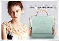 Wholesale Handbag Preppy Style Messenger Bag - 2014 New Autumn Fashion Preppy Style Stamp One Shoulder Bags Leather Handbags Women Messenger Bags Women Handbag 9 Kinds Color Choices