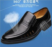 Wholesale latest leather sandals for men for sale - Group buy Summer Latest Groom dress shoes Men s black breathable Hollow out Leather shoes for men s Flats leather sandals NLX171