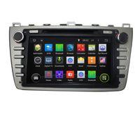 pantalla de dvd mazda al por mayor-Pantalla táctil capacitiva 100% Android 4.4 8 pulgadas DVD de coche para Mazda 6 2008-2012 Soporte DVR OBD incorporado en WiFi 3G con Canbus