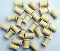 Wholesale Wood Spools Wholesale - 5000pcs lot Natural Wood Spools Mini Wooden Spools DIY Sewing Tools