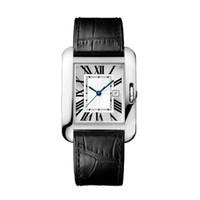 retângulo relógio de pulso venda por atacado-Novo Top Fashion Women Dress Relógios de Alta Qualidade Retângulo Pulseira De Couro Relógios De Aço Inoxidável de Quartzo Relógio De Pulso Fecho Original