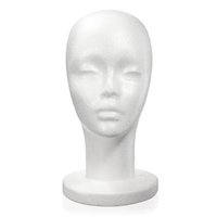 Wholesale Mannequin Head Hat Stand - Hotting Styrofoam Foam Manikin Women Head Model Lightweight Wig Hair Glasses Hat Glasses Mannequin Stand Display High Quality