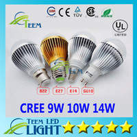Wholesale E27 Led Bubble Bulb - Dimmable Cree 9W 10W 14W 110-240V Led Globe Bulb E27 GU10 E14 B22 110-240V Led Lamp Downlight Bubble ball Led Down Lighting