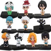 Wholesale free japanese toys online - Japanese Anime Bleach Ichigo Kurosaki Orihime Inoue PVC Collection Bleach Figure Toys set