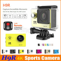"""Wholesale Sports Action Video Camera Remote - Ultra HD 4K Video 170 Wide Angle Sports Camera Waterproof 30m 2"""" Screen 1080p action Camera H9R H9 + remote control HDMI wifi"""